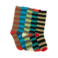 Mens Fashion Striped Crew Socks 5 Pack, Multi, at Journeys Shoes