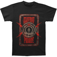 Mayday Parade Men's  Lightning Mic T-shirt Black