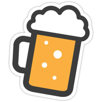 'Beer stein sticker' Sticker by Mhea