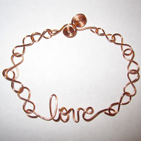 Love Bracelet Infinity Copper Wire Wrapped Unique Gifts - Other