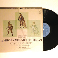 OCTOBER SALE LP Album Mendelssohn Bartholdy Music To A Midsummer Nights Dream Vinyl Record Otto Klemperer