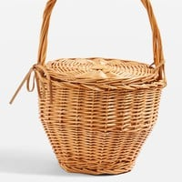 Shelly Straw Basket Bag - Bags & Purses - Bags & Accessories