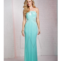 LM by Mignon CC305B Bold Striping Spearmint Green Gown