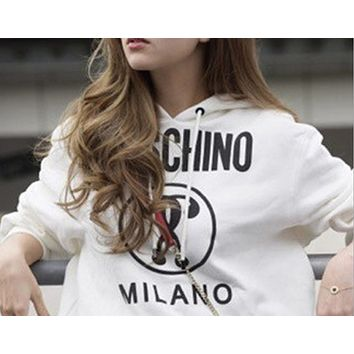 x1love  ''MOSCHINO'' Women Hot Hoodie Cute Sweater