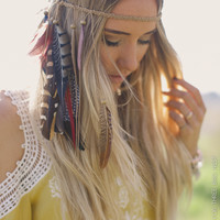 Bohemian Feathers Festival Headdress - Three Bird Nest | Women's Boho Clothing & Cute Indie Accessories