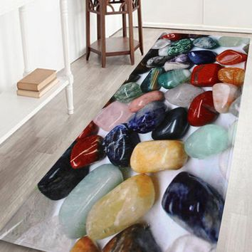 Colorful Stone Coral Velvet Indoor Area Rug
