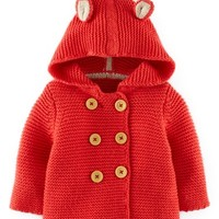 Mini Boden Knit Jacket (Baby Girls)