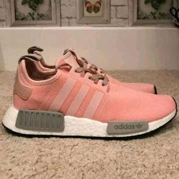 DCCKXI2 Swarovski Adidas Nmd R1 Shoes Adidas Pink Women's shoes Originals Customized Trainers