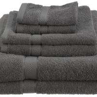 Pinzon Egyptian Cotton 6-Piece Towel Set, Grey