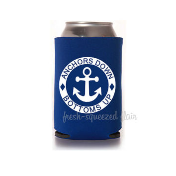 Anchors Down Bottoms Up Koozie/Can Cooler Bachelorette Party gift/favor