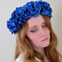 Floral crown flower crown rose crown garland headband wreath silk festival - 'Daria'