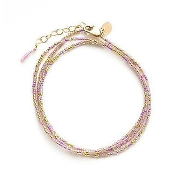 "Tess and Tricia ""Spicy"" Little Lovelies Triple Wrap Bracelet"