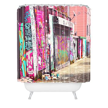 Shannon Clark Paint It Pink Shower Curtain