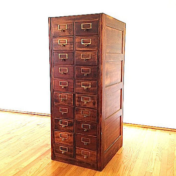 20 Drawer Globe Wernicke Card Catalogue Furniture, Primitive Apothecary Furniture, Industrial Storage Unit, Card Catalogue, Home Decor