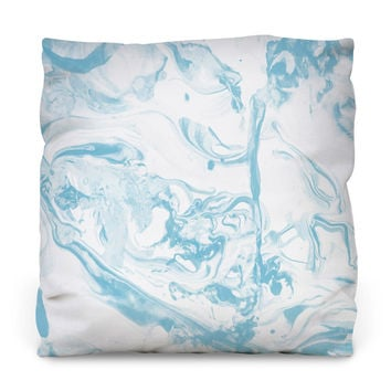 Blue Marble II Throw Pillow