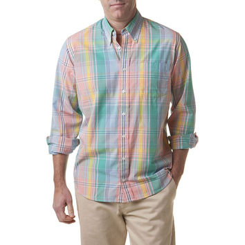 Chase Long Sleeve Shirt in Sunset Madras by Castaway Clothing - FINAL SALE
