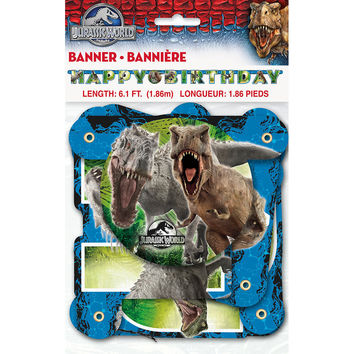 Jurassic World Jointed Birthday Banner