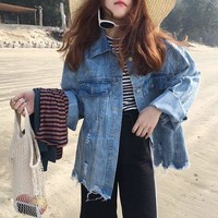 LMFOND Oversized Denim Jacket