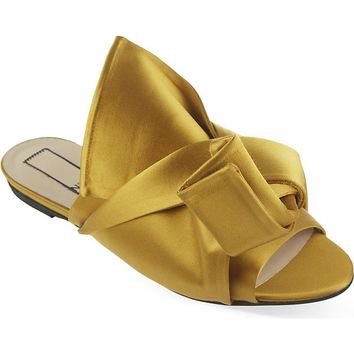 NO 21 - Satin bow slippers | Selfridges.com