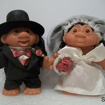 Dam Troll Dolls - Wedding - Groom and Bride