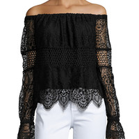 Off-the-Shoulder Lace Top | Lord & Taylor
