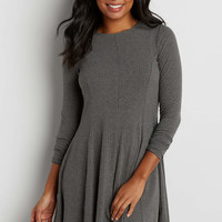 ribbed sweater dress with lace up back | maurices