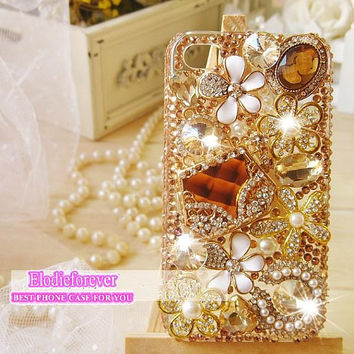 SALE, Bling Luxury iPhone 4 case,Champagne Bag iPhone 4S case, Colorful Rhinestones daisy iPhone 5 Case ,Swarovski Crystal iPhone 5 case,C19