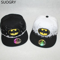 All for children clothing accessories diamond baseball cap kids snapback batman superman hip hop cap gorras bone aba reta