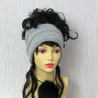Grey Dreadlock accessories Mens dreadlock tube hat Womens Hat plain hair wrap, dread band  tube hat