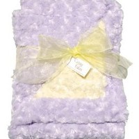 Cozy Faux Lavender and Yellow Baby Blanket