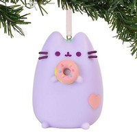 Department 56 - 4060367 - Pusheen Purple with Donut Ornament - 2.5""