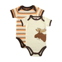 Touched by Nature Baby Pack Of Two Organic Bodysuits, Mouse, 9-12 Months