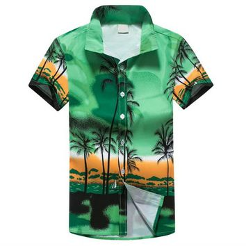 Laamei Men Hawaii Shirt New Summer Beach Leisure Fashion Floral Print Tropical Seaside Hawaiian Shirts 2018 Casual Camisa Shirt