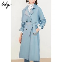 Top Gift Warm Women Double Breasted Long Trench Parka Coat Suit jacket
