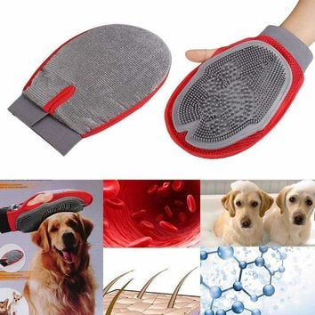 Pet Dog Puppy Grooming Groom Glove Mitt Massage Bath Shower Brush Comb Tool Mascotas Cachorro Chien Honden Hond Perros