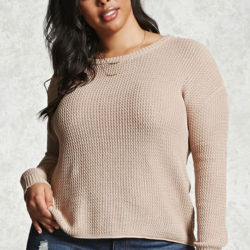 Plus Size Back Cutout Sweater