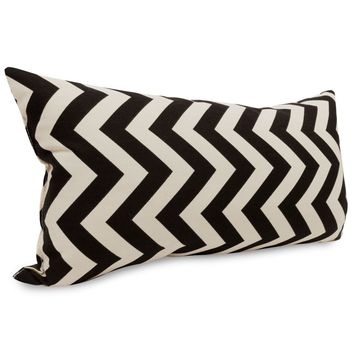 Black Chevron Small Pillow