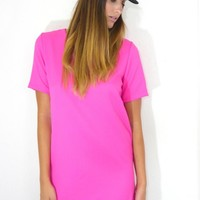 Bright Pink Casual Day Dress