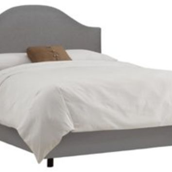 Libby Upholstered Bed, Gray, Panel Beds