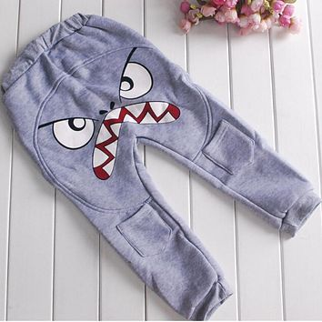 Baby Boys Pants Cotton Autumn Harlan Boy Pants Trousers 2-7Y Cute Bird Pattern Pants Kids Toddler Pants