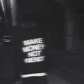 """MAKE MONEY NOT FRIENDS"" Hoodie"