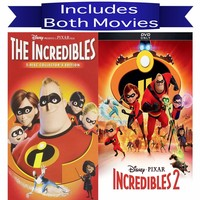 Walt Disney's The Incredibles 1&2 DVD Set 2 Movie Collection