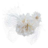 Large Hair Comb with Large & Small Gardenias  by Renee Rivera