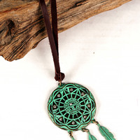 Bronzed Dreamcatcher Necklace