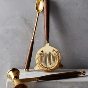 Bretton Bar Tools by Anthropologie in Gold Size: Bar Set House & Home