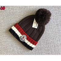 Moncler Classic Fashion Women Men Cute Warm Knit Hat Cap 6# Dark Coffee