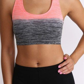 Get Your Zen On Ombre Top-Coral