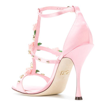 Dolce & Gabbana Rose Caged Heel Sandals - Farfetch