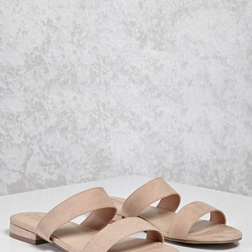 Faux Suede Sandals (Wide)