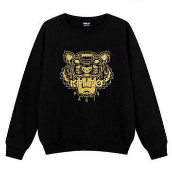 KENZO Popular Embroidering Print Leisure Round Collar Cotton Long Sleeve Sweater Top